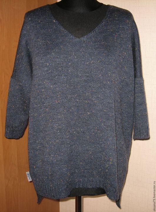 """Кофты и свитера ручной работы. Ярмарка Мастеров - ручная работа. Купить Джемпер """"Капелька романтики"""". Handmade. Тёмно-синий, хлопок"""