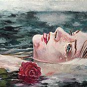 Картины и панно ручной работы. Ярмарка Мастеров - ручная работа Девушка и море. Handmade.