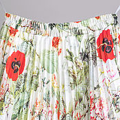 Одежда handmade. Livemaster - original item Skirt summer pleated chiffon. Pleated skirt in the lining. Handmade.