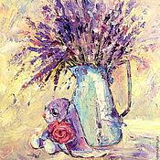 Картины и панно handmade. Livemaster - original item Oil painting on canvas. Lavender sleep at noon. Handmade.
