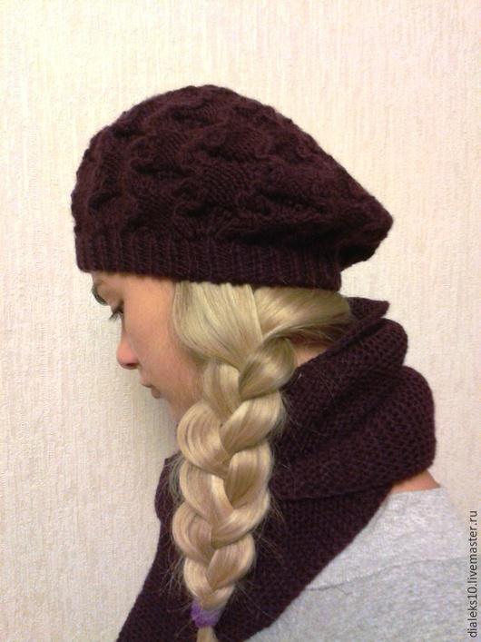 """Береты ручной работы. Ярмарка Мастеров - ручная работа. Купить Берет и шарф """"Violetta"""" - комплект из мериносовой шерсти. Handmade."""