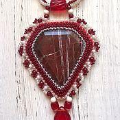 Украшения handmade. Livemaster - original item Pendant with Jasper Passion. Handmade.