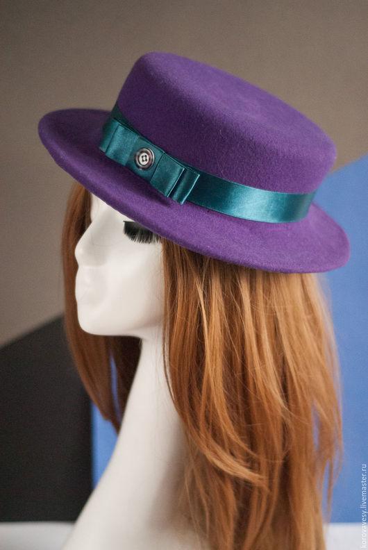 """Шляпы ручной работы. Ярмарка Мастеров - ручная работа. Купить """"Лавандовый Прованс"""". Handmade. Фиолетовый, стильный аксессуар, городская мода"""