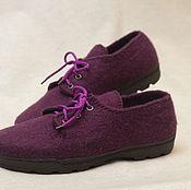 Обувь ручной работы. Ярмарка Мастеров - ручная работа Туфли валяные повседневные. Handmade.