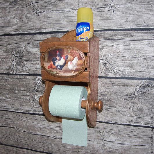 Ванная комната ручной работы. Ярмарка Мастеров - ручная работа. Купить Держатель для туалетной бумаги. Handmade. Комбинированный, петух, курица