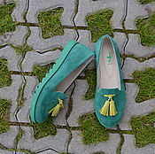 Обувь ручной работы. Ярмарка Мастеров - ручная работа Лоферы женские замшевые. Handmade.