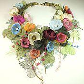 Украшения handmade. Livemaster - original item Air Pastoral. Necklace, floral decor. Handmade.