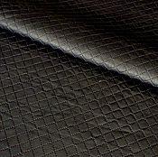 Материалы для творчества handmade. Livemaster - original item Genuine leather Dark brown quilted (small stitch). Handmade.