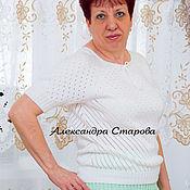 Одежда ручной работы. Ярмарка Мастеров - ручная работа Джемпер вязаный женский Летняя Романтика. Handmade.