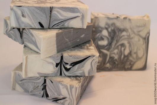 Мыло ручной работы. Ярмарка Мастеров - ручная работа. Купить мыло с нуля   Белое и чёрное. Handmade. Мыло ручной работы