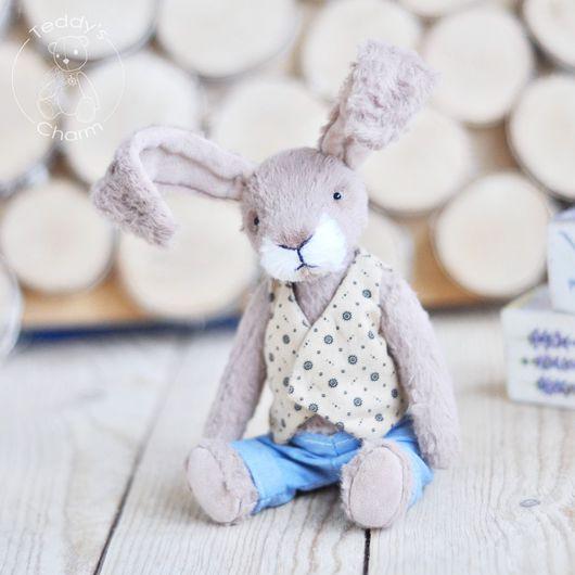 Мишки Тедди ручной работы. Ярмарка Мастеров - ручная работа. Купить Тедди заяц Генри. Handmade. Комбинированный, ручная работа