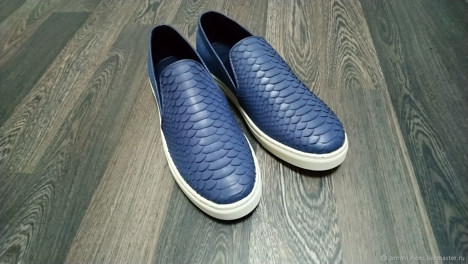 Espadrilles made of genuine Python leather and blue tweed in stock!, Slip-ons, Tosno,  Фото №1