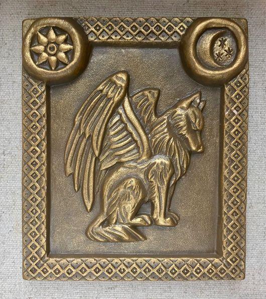 Фэнтези ручной работы. Ярмарка Мастеров - ручная работа. Купить Волк. Handmade. Картина, подарок, ангел, тотемные животные