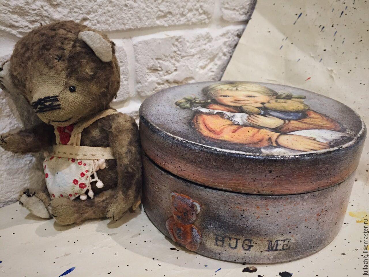 Nursery handmade. Livemaster - handmade. Buy Hug me, a bonbonniere for a kid.Teddy, bonbonniere, decoupage