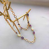 Винтаж handmade. Livemaster - original item Vintage necklaces: Chain necklace from Swarovski. Handmade.