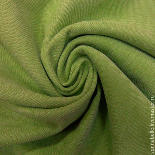 Шитье ручной работы. Ярмарка Мастеров - ручная работа. Купить Портьерная ткань для штор ворсовая Св-Зеленый, салатовый. Handmade.