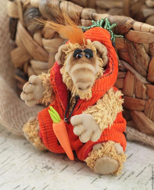 Мишки Тедди ручной работы. Ярмарка Мастеров - ручная работа. Купить Альф Морковка. Handmade. Оранжевый, мишка тедди, бисер