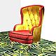 Мебель ручной работы. Огромнейшее Кресло ШИНШИЛЛА 2. Deco Curtains(VERMA). Ярмарка Мастеров. Ткань