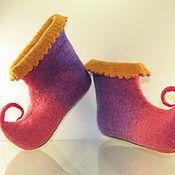 Обувь ручной работы. Ярмарка Мастеров - ручная работа Детские домашние тапочки. Handmade.
