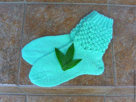 """Носки, Чулки ручной работы. Ярмарка Мастеров - ручная работа. Купить Носочки женские """"Мятные"""". Handmade. Носки, вязаные носки"""