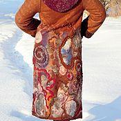 """Одежда ручной работы. Ярмарка Мастеров - ручная работа Зимнее АРТ - пальто """"Элементы тепла"""". Handmade."""