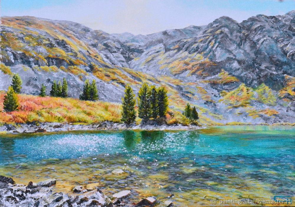Озеро Манас находится на высоте 2100 м. над уровнем моря,это Республика Алтай.Озеро поражает своей прозрачной водой с изумительным оттенком цвета.Осенней порой золотистые оттенки кустарника,карликовых