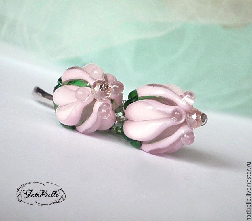 Earrings 'soft buds', Earrings, Moscow,  Фото №1