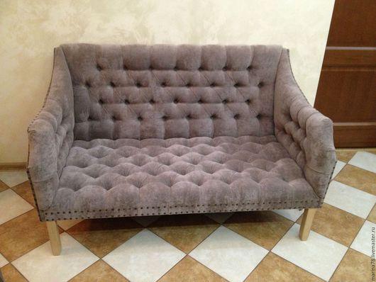 Мебель ручной работы. Ярмарка Мастеров - ручная работа. Купить диван. Handmade. Серый, банкетка, поролон