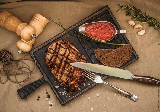 """Кухня ручной работы. Ярмарка Мастеров - ручная работа. Купить Доска для нарезки и сервировки """"Угли"""". Handmade. Доска разделочная, дуб"""