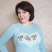 """Одежда ручной работы. Ярмарка Мастеров - ручная работа Пуловер """"Сердце с ягодкой"""". Handmade."""