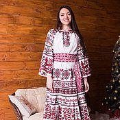 """Одежда ручной работы. Ярмарка Мастеров - ручная работа Платье """"Обереги"""" №2 льняное. Handmade."""