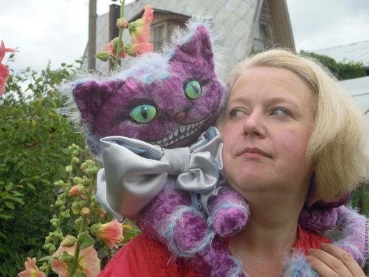 Игрушки животные, ручной работы. Ярмарка Мастеров - ручная работа. Купить чеширский кот. Handmade. Антикварный плюш, авторская кукла