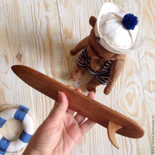 Миниатюра ручной работы. Ярмарка Мастеров - ручная работа. Купить Доска для серфинга из ольхи. Handmade. Бежевый, подарок на любой случай