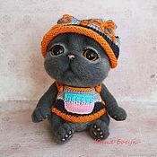 Куклы и игрушки handmade. Livemaster - original item Cat toy Sonechka (British fold). Handmade.