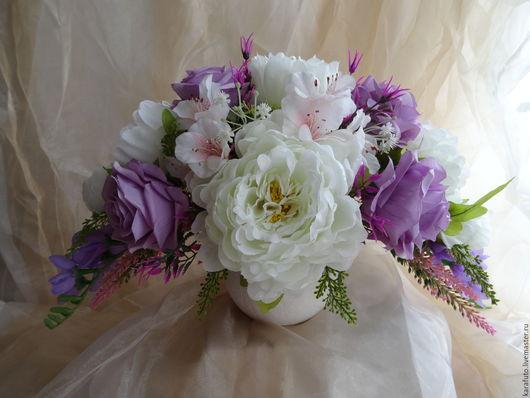Цветы, букет, интерьерные цветы, интерьерный букет, флористическая композиция, интерьерная композиция, цветы для дома, подарок женщине, подарок девушке, подарок на 8 марта, пионы, розы, первая любовь