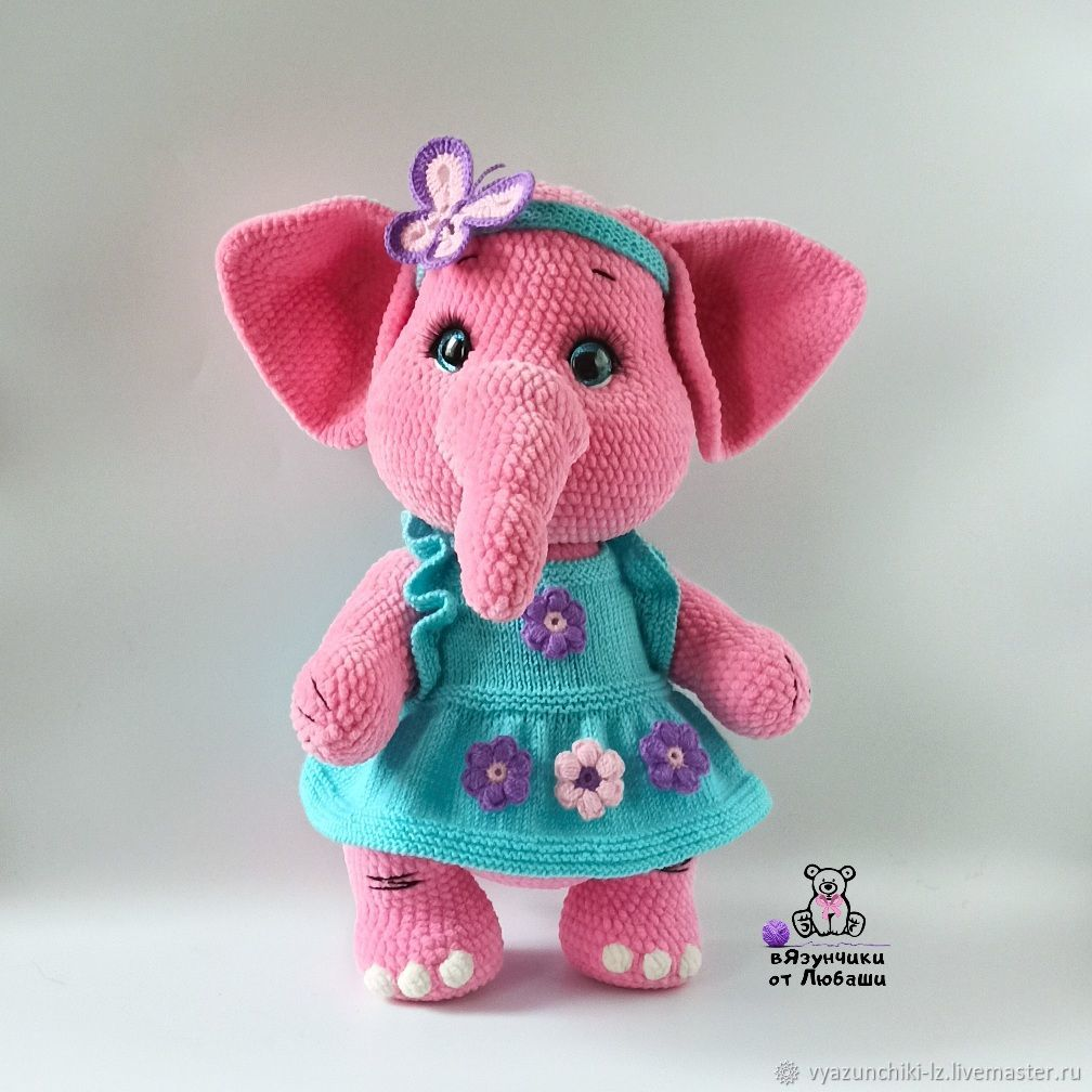 Soft toy elephant Monya in clothes knitted elephant, Stuffed Toys, Volokolamsk,  Фото №1