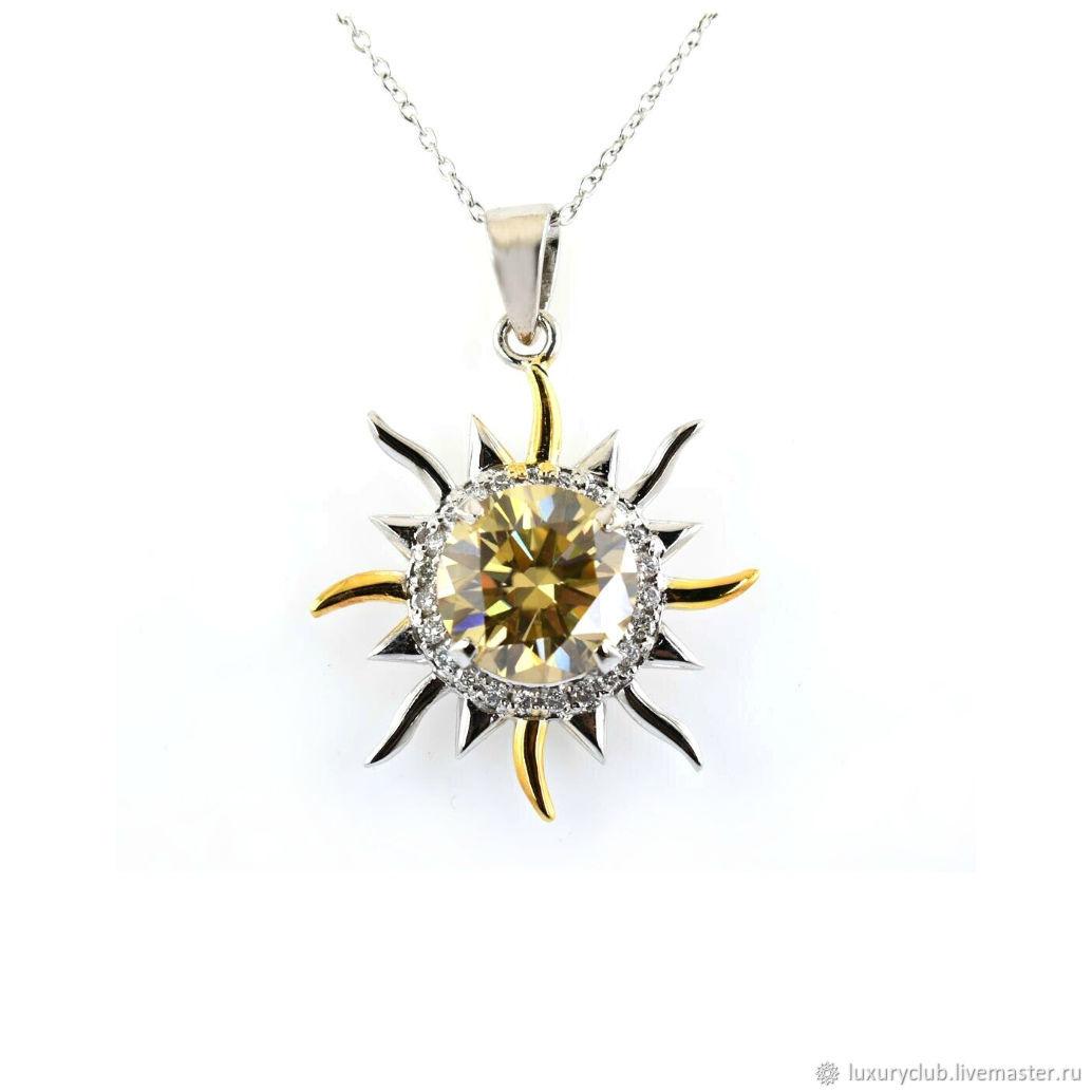 Pendant with a diamond 'love' to buy a VIDEO, Pendants, Tolyatti,  Фото №1