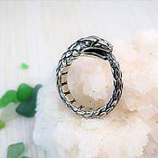 Украшения handmade. Livemaster - original item Ouroboros wide ring for men. Handmade.