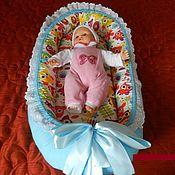 Кокон-гнездо ручной работы. Ярмарка Мастеров - ручная работа кокон-гнёздышко для новорожденного из хлопка. Handmade.