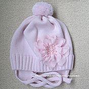 Работы для детей, ручной работы. Ярмарка Мастеров - ручная работа Вязаная мериносовая шапочка для девочки. Handmade.