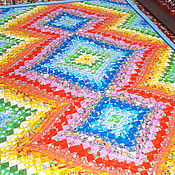 """Для дома и интерьера ручной работы. Ярмарка Мастеров - ручная работа Лоскутное покрывало """" Краски лета"""". Handmade."""