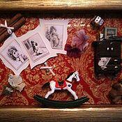 """Картины и панно ручной работы. Ярмарка Мастеров - ручная работа Панно-коллаж """" Воспоминания о детстве"""". Handmade."""