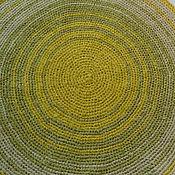 Для дома и интерьера ручной работы. Ярмарка Мастеров - ручная работа Коврик вязаный. Желтое с зеленым 2.. Handmade.