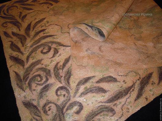 Текстиль, ковры ручной работы. Ярмарка Мастеров - ручная работа. Купить покрывало валяное. Handmade. Бежевый, покрывало на диван, Валяние