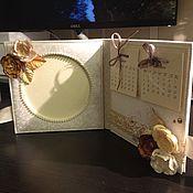 Подарки к праздникам ручной работы. Ярмарка Мастеров - ручная работа Настольный календарь (+фоторамка для фото 10х10). Handmade.