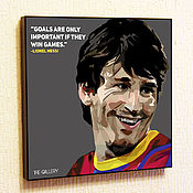 Картины и панно handmade. Livemaster - original item Painting Pop Art Messi Barcelona. Handmade.