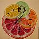 """Часы для дома ручной работы. Ярмарка Мастеров - ручная работа. Купить часы из стекла """"Фруктовое настроение"""". Handmade. Часы"""