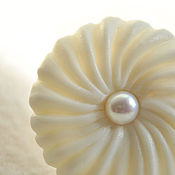 Украшения handmade. Livemaster - original item Porcelain ring with pearls. Handmade.