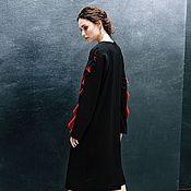 """Одежда ручной работы. Ярмарка Мастеров - ручная работа Платье """"Черное с красными волнами"""". Handmade."""