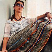 Одежда ручной работы. Ярмарка Мастеров - ручная работа Лоскутная юбка с полосным набором. Handmade.